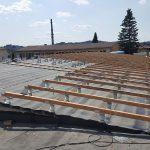 8. Příprava na zateplení střechy nad šatnami